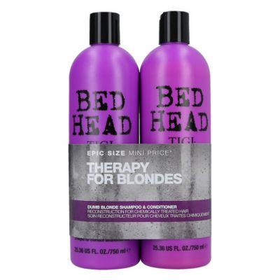 Tigi Bed Head Colour Combat Dumb Blonde Twins Set, zestaw nawilżający do włosów blond, szampon + odżywka, 2 x 750 ml