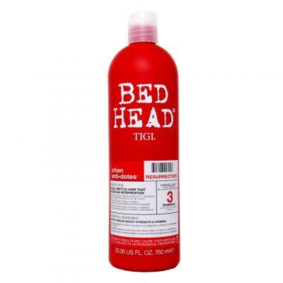 Tigi Bed Head Urban Anti+Dotes Resurrection Shampoo, regenerujący szampon do włosów słabych i łamliwych, 750 ml