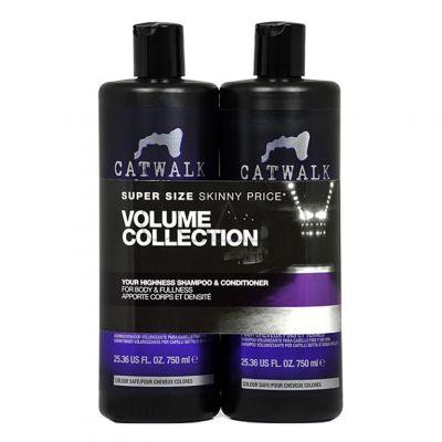Tigi Catwalk Fashionista Violet Twins Set, zestaw do włosów blond i z balejażem, szampon + odżywka, 2 x 750 ml