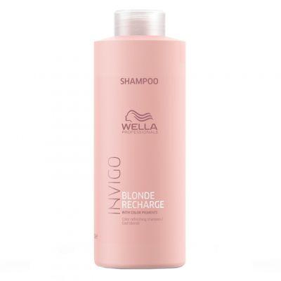 Wella Invigo Blonde Recharge, szampon ochładzający kolor, 1000 ml