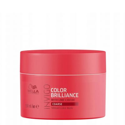 Wella Invigo Color Brilliance, maska do włosów farbowanych i grubych, 150 ml