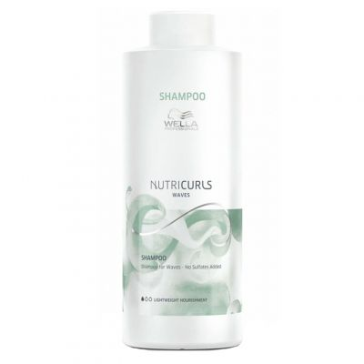 Wella Nutricurls Shampoo, szampon do włosów kręconych i falowanych, 1000 ml